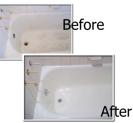 Before & After Bathtub Cleaning