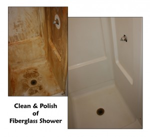 Clean & Polish of Fiberglass Shower